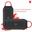 iBall Musi Rock Portable Outdoor Speaker with IPX6 Water Resistant & Built in Power Bank (Black)